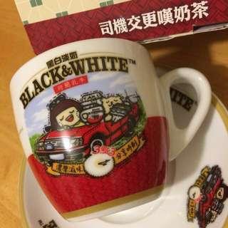 最新【司機交更嘆奶茶】黑白 Chocolate Rain 珍藏版 杯碟套裝 Black & White Milk 黑白淡奶