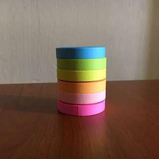 [PRICE REDUCED] rainbow washi set