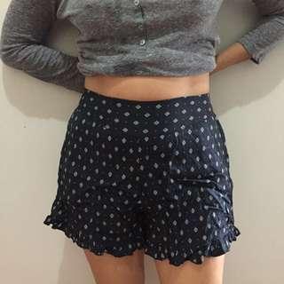 Boho/ Bohemian Highwaist Shorts (Navy Blue)