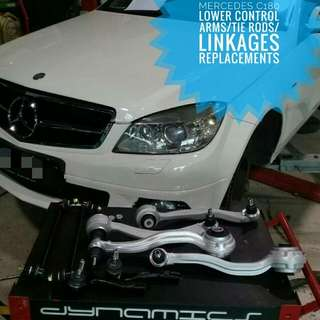 Mercedes C180 W204:- Lower_Control_Arms / Tie_Rods / Linkages Replacement