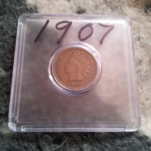 1907 INDIAN HEAD CENT-XF
