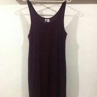 Dress HnM Warna Burgundy