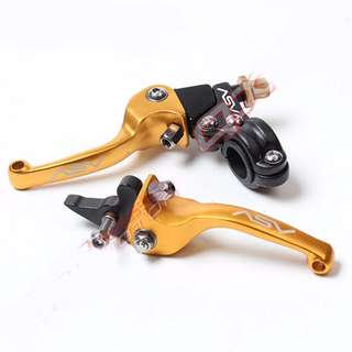 Universal red blue black green gold silver Off road Modified short clutch brake levers Asv set