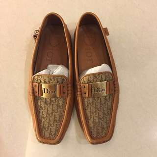 (+Gift) Authentic Dior Leather moccasin