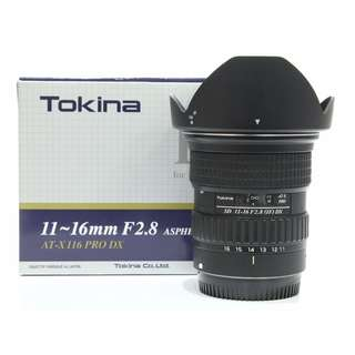 Tokina SD 11-16mm F2.8 IF AT-X PRO DX Lens (Canon)