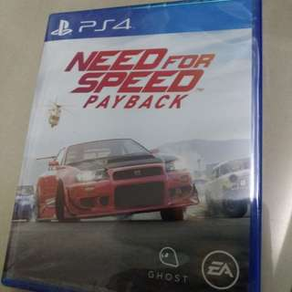 PS4 Sealed Need for Speed Payback