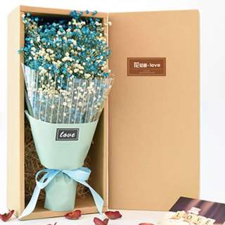 Dried Baby Breath Bouquet with Box 💐