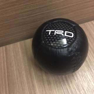 正廠 TRD 真皮碳纖 手波波棍頭
