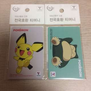 Korean Pokemon T-money Card