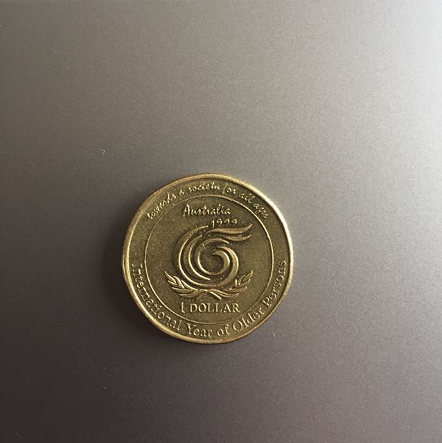 1999 international year of older persons $1 coin