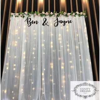 Wedding Fairylights Backdrop