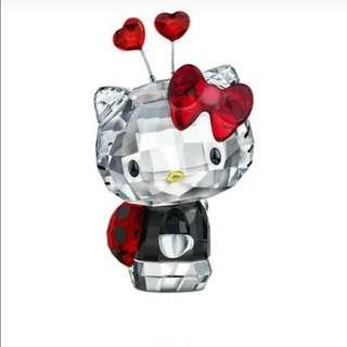 X'mas gift Swarovski Hello Kitty Ladybug 擺設 for HK$750