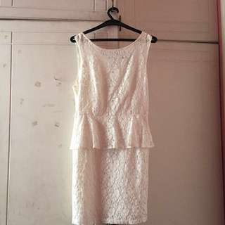 Forever 21 White Peplum Dress