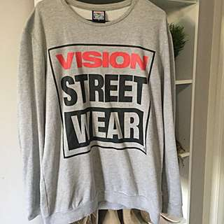 MENS Grey Vision Streetwear Jumper