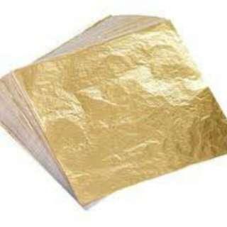 gold foil / gold leaf for slime