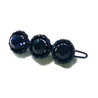 藍色 寶石 閃 bling bling 頭夾 頭飾