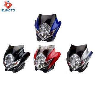 Universal off-road headlight headcowl cowl head fairings windshield shield wind screen windscreen coverset silver red blue black