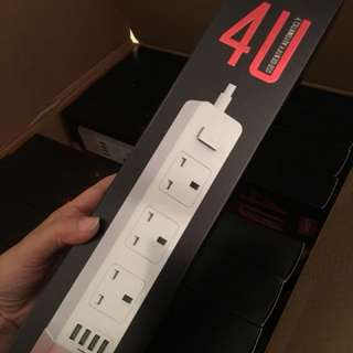 LDNIO SK3460 Extension Cord / Wire with 4USB Port Power Socket