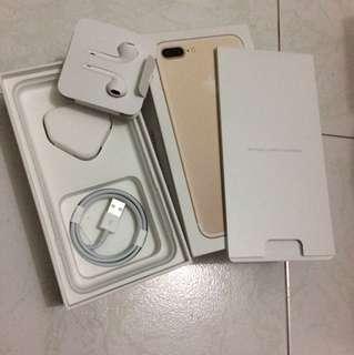 IPhone 7 Plus gold box