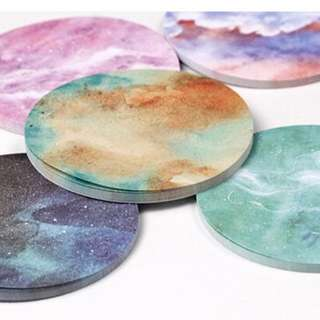 Planet Ombre Adhesive Note