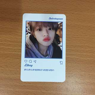 Twice Twicetagram Jeongyeon Photocard