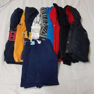 Bulk 12x boys jumpers/jackets size 2