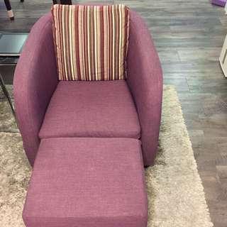 單人沙發椅(紫色)
