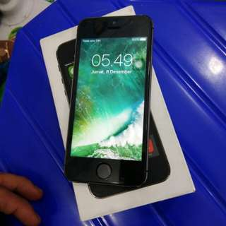 Iphone 5s 16Gb grey mulus bingit ex international fullset nokendala