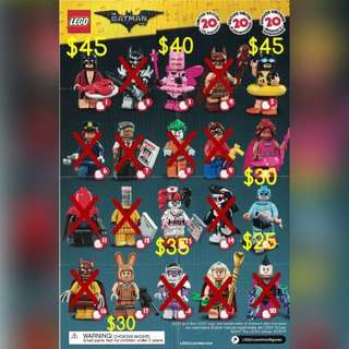 全新 lego 71017 batman minifigures 清貨優惠