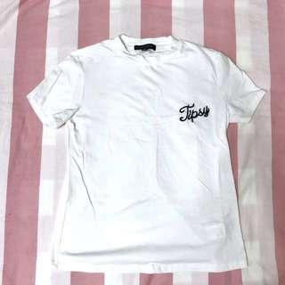 (含運)純棉白色刺繡短袖