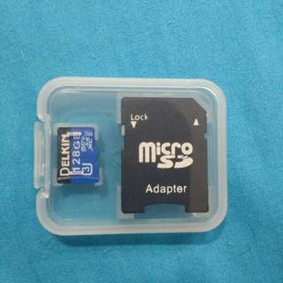 128GB SD card with adapter