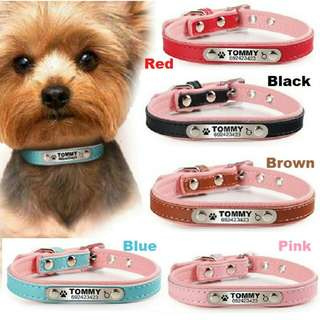 Deep Engraving Personalized Pet ID Collar For Small Dog's & Cat's