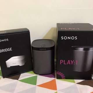Sonos Play 1 with Sonos Bridge