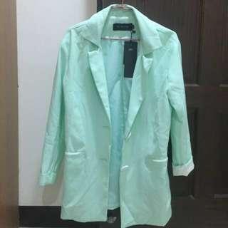 🚚 西裝外套大衣(薄荷綠)
