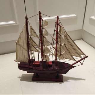 🚚 帆船擺設帆船模型玩具擺飾海盜船風帆裝飾品造型木製居家擺設造型裝飾#轉轉來交換