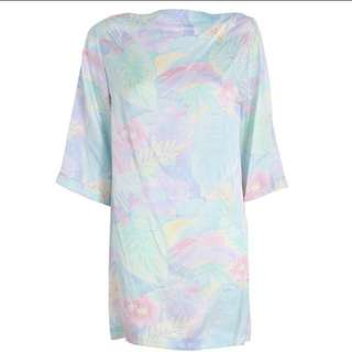 Zimmermann Clique Pastel 100% Silk Shift Dress (Size 1)