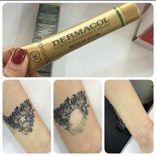 💄💋 Dermacol waterproof make up cover concealer foundation for freckles/ acne/ scars/ tattoo 😍