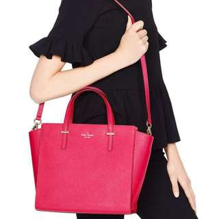BNIB Kate Spade New York Cedar Street Crosshatched Hayden Satchel