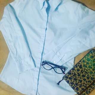 Longsleeves Baby Blue Top