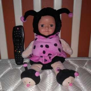 Pink Lady bug soft doll