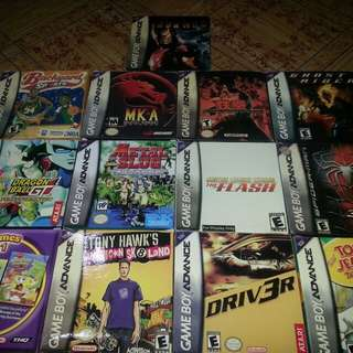 Gameboy advanced cartridges for sale