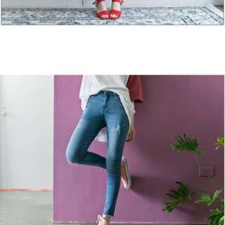 🚚 Lulus 全新淺藍牛仔長褲