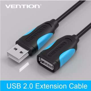 USB 2.0 Male to Female USB Cable Extend Extension Cable Cord Extender For PC Laptop