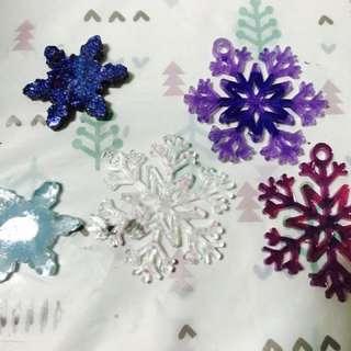 Christmas snowflake pendant or keychains