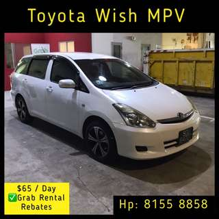 Toyota Wish - Grab Car Rental