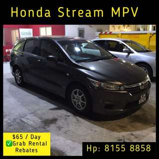 Honda Stream - Grab Car Rental