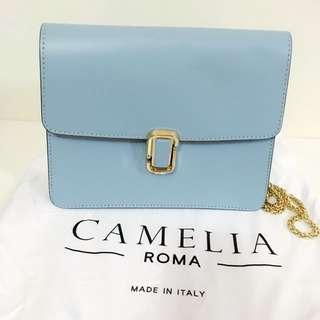 Authentic Camelia Roma Leather Crossbody Bag