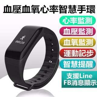 Smart Watch F1 來電信息提醒 血壓監測/心率監測/血氧監測/疲勞度監測/計步,距離,卡路里/睡眠監測