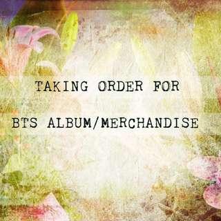 TAKING ORDER BTS ALBUM / MERCHANDISE
