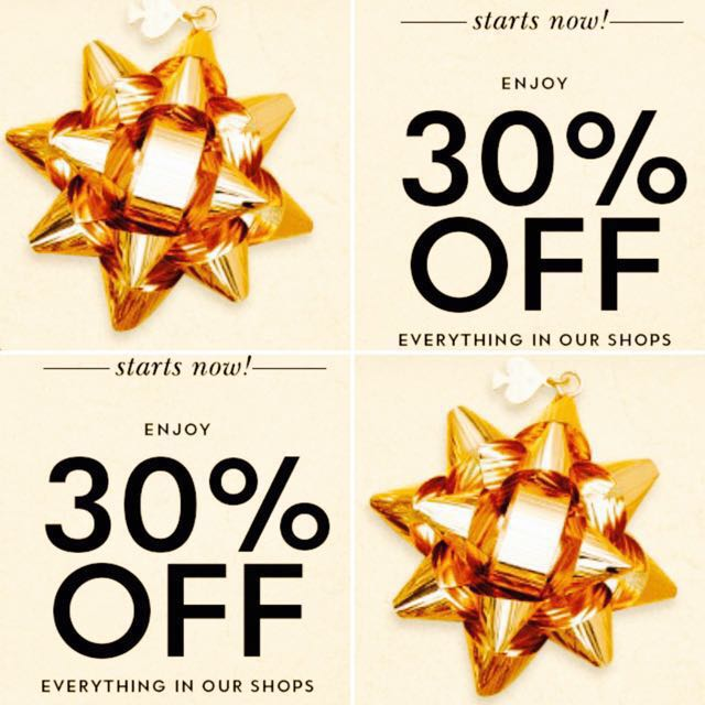 30 % off on all items